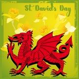 Dia do St Davids ilustração royalty free