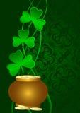 Dia do St. Patrick do cartão. Fotos de Stock