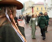 Dia do St. Patrick em Moscovo Imagens de Stock Royalty Free
