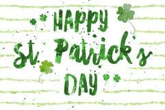 Dia do St Patrick feliz ilustração royalty free