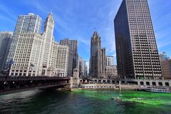 Dia do St Patricks de Chicago Foto de Stock Royalty Free