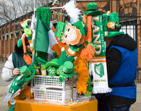 Dia do St. Patricks em Moscou Foto de Stock
