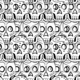 Dia do teste padrão inoperante de Sugar Skull Imagem de Stock