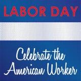Dia do Trabalhador - comemore o trabalhador americano, costurado no pano ilustração do vetor
