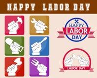 Dia do Trabalhador feliz Imagens de Stock Royalty Free