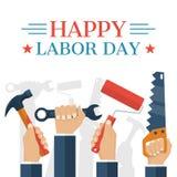 Dia do Trabalhador feliz ilustração do vetor