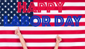 Dia do Trabalhador feliz Estados Unidos embandeiram imagem de stock royalty free