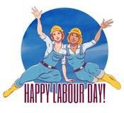 Dia do Trabalhador internacional O primeiro de pode Fotos de Stock
