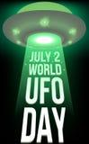 Dia do UFO do mundo Imagem de Stock