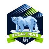 Dia do urso polar ilustração do vetor