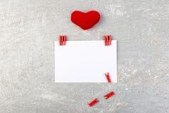 Dia do Valentim Cartão com espaço vazio perto dos corações Imagem de Stock Royalty Free