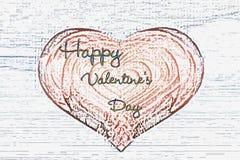 Dia do Valentim Corações, há um lugar para uma etiqueta Foto de Stock