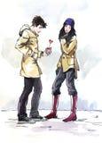 Dia do Valentim de Saint ilustração royalty free
