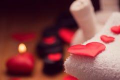 Dia do Valentim Decoração do bem-estar imagens de stock royalty free