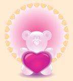 Dia do Valentim do cartão Fotos de Stock Royalty Free