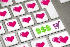 Dia do Valentim do teclado Fotografia de Stock Royalty Free