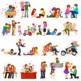 Dia do Valentim feliz Imagens de Stock Royalty Free