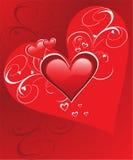 Dia do Valentim feliz dos corações Foto de Stock Royalty Free