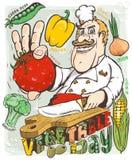 Dia do vegetal do cozinheiro chefe Foto de Stock Royalty Free