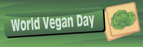 Dia do vegetariano do mundo da bandeira Foto de Stock Royalty Free