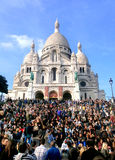 Dia do vintage de Monmartre Fotografia de Stock
