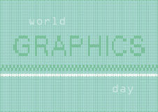 Dia dos gráficos do mundo Imagens de Stock