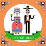 Dia dos mortos & do x28; Diâmetro de los Muertos& x29; Feriado mexicano Imagem de Stock
