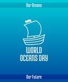 Dia dos oceanos do mundo ilustração royalty free