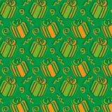 Dia dos presentes - verde e laranja Fotografia de Stock Royalty Free