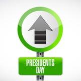 dia dos presidentes acima do sinal de estrada da seta ilustração royalty free
