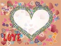 Dia dos Valentim do coração Ilustração do Vetor