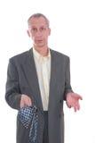 Dia duro da expressão do homem de negócio Imagens de Stock Royalty Free