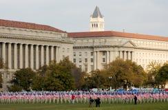 Dia e bandeiras do veterano imagens de stock