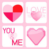 Dia e coração de Valentim Imagens de Stock