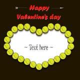 Dia e quadro do ` s do Valentim das bolas de tênis ilustração royalty free