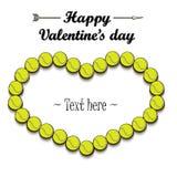 Dia e quadro do ` s do Valentim das bolas de tênis ilustração stock