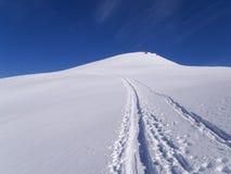 Dia ensolarado bonito e a neve em Suíça italiano ar Imagens de Stock Royalty Free
