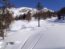 Dia ensolarado bonito e a neve em Suíça italiano ar Foto de Stock Royalty Free