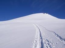 Dia ensolarado bonito e a neve em Suíça italiano ar Imagens de Stock