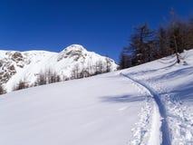 Dia ensolarado bonito e a neve em Suíça italiano ar Imagem de Stock Royalty Free