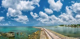 Dia ensolarado do cais da paisagem de Phu Quoc Imagens de Stock
