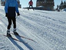 Dia ensolarado na montanha do inverno Fotos de Stock Royalty Free