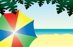 Dia ensolarado na praia Ilustração Stock