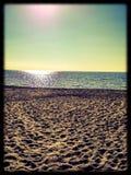 Dia ensolarado na praia Imagem de Stock Royalty Free