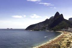 Dia ensolarado na praia de Ipanema Imagem de Stock Royalty Free