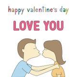 Dia feliz card14 do Valentim s Foto de Stock