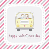 Dia feliz card11 do Valentim s Fotografia de Stock Royalty Free
