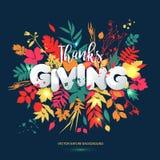 Dia feliz da ação de graças mão caligráfica no estilo e no pape tirados Imagens de Stock Royalty Free