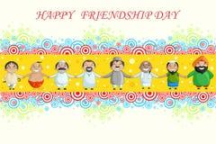 Dia feliz da amizade Imagens de Stock Royalty Free