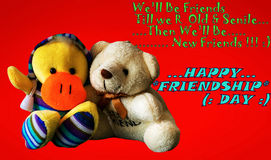 Dia feliz da amizade Imagens de Stock